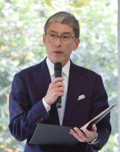 開会挨拶を行う山田敦・一橋大学副学長