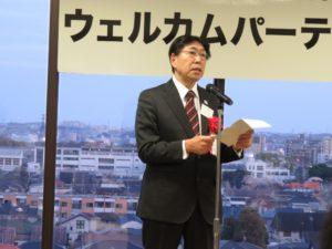 国立市教育委員会教育長の是松昭一様による挨拶