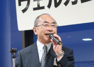 岡田円治如水会理事・事務局長の音頭による乾杯