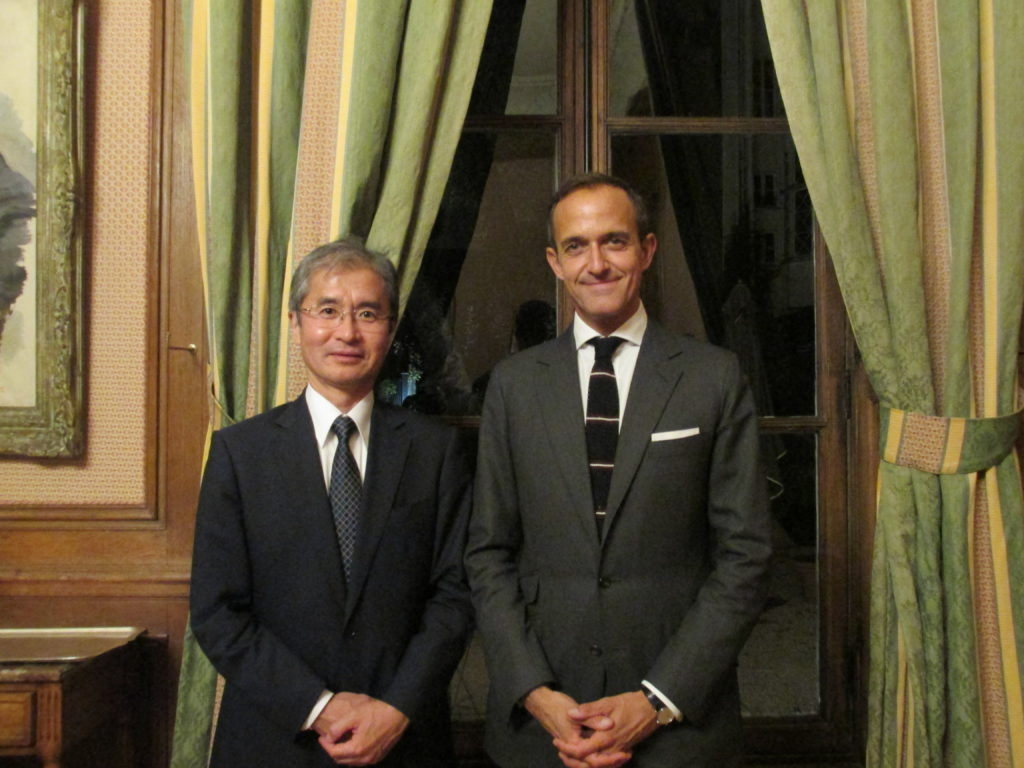 With President Frédéric Mion at Sciences Po