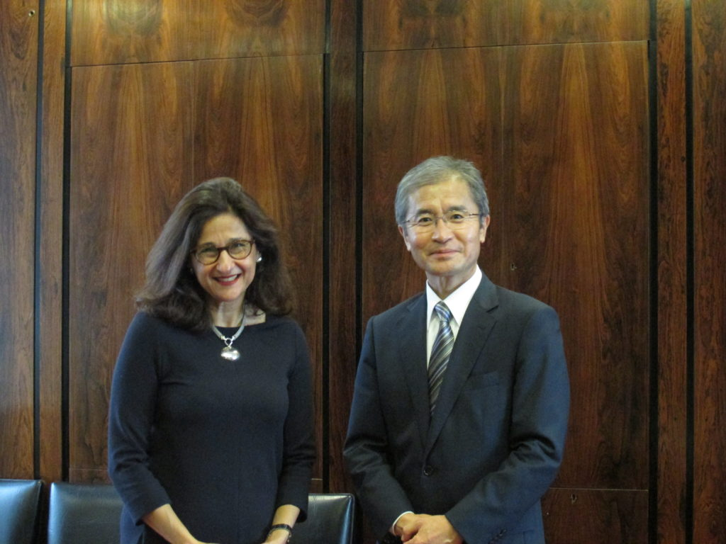 With Director Dame Minouche Shafik at LSE